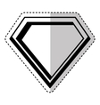 hero shield isolated icon vector image