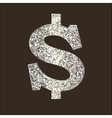 Icon Dollar on dark background vector image