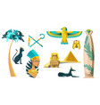 icons ancient egypt symbols vector image