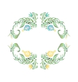 in folk style Yellow blue flowers vector image vector image