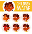 indian boy avatar set kid kindergarten vector image vector image
