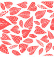 leaves on white pattern vector image vector image