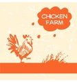 logo Chicken and hen farm Products from vector image vector image