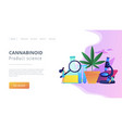 marihuana products innovation concept landing page vector image vector image