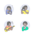 media occupations african girl avatars vector image vector image