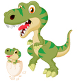 Mother and baby dinosaur hatching vector image