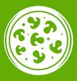 mushroom pizza icon green vector image vector image