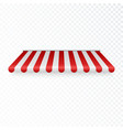 outdoor awning striped tent or textile rofor vector image