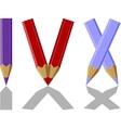 Pen set color 07 vector image vector image
