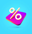 percentage sign isolated icon percent vector image
