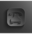 Phone icon - black app button vector image