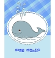 Pictures from the whale for bride-kid vector image