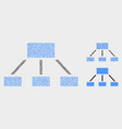 Pixelated hierarchy icons