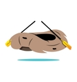 rafting boat cartoon vector image vector image