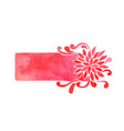 red chrysanthemum flower rectangle frame vector image vector image