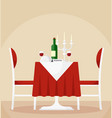reserved dining table vector image vector image