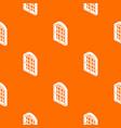 restaurant window frame pattern orange vector image vector image