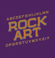 rock art typeface retro font isolated english vector image