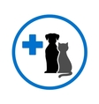 round veterinary icon with pets vector image