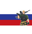 russian soldier background vector image vector image
