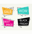 sale discount banners best price vector image