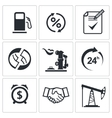 Sale of petroleum products icon collection vector image vector image