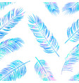 seamless color pattern with palm leaves vector image vector image