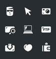 set of digital video icons vector image vector image