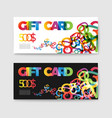set of gift discount voucher cards vector image