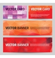 set of modern banners with polygonal vector image