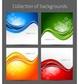 Set of wavy backgrounds vector image vector image