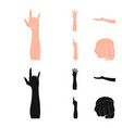 sign language cartoonblack icons in set vector image