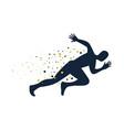 silhouettes running athlete running man vector image
