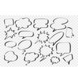 sketch speech dream bubbles set vector image vector image
