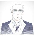 Stylish young businessman portrait vector image