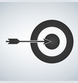 target and arrow icon isolated on white background vector image vector image