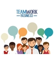 teamwork business people icon vector image vector image