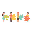 teamwork for business design and vector image vector image