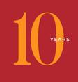 ten years symbol tenth birthday emblem vector image vector image