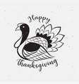 thanksgiving day icon logo vector image vector image