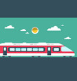 train flat design vector image vector image