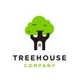 tree house icon logo vector image vector image
