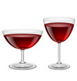 two glasses of red wine on white for creative vector image vector image