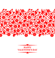 valentine floral red vector image vector image