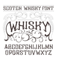 vintage label font Whisky style vector image vector image