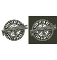 vintage monochrome military badge vector image vector image