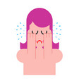woman is crying female hysterics fountains of vector image