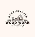 wood work vector image vector image