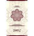 Vertical wedding Card with ornate mandala floral vector image
