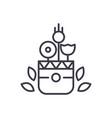 flowers pot concept thin line icon symbol vector image